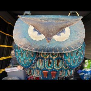 Aniphal Genuine Leather Owl Shoulder Bag